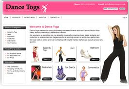 Dance Togs - Sheffield Website Design